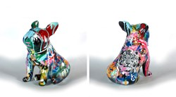 Dream Big II (seated dog) by Yuvi - Original Sculpture sized 11x13 inches. Available from Whitewall Galleries